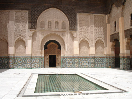 Photos of Ben Youssef Madrassa, Marrakech Islamic college from 14th Century in Marrakech