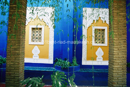 Photos of Majorelle Botanical Garden owned by Yves Saint-Laurent in Marrakech