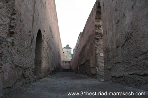 Photos of Palace el-Badi from 1578 Saadian king Ahmad al-Mansur in Marrakech
