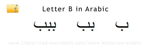 Letter B in Arabic, Learn How to Write Arabic