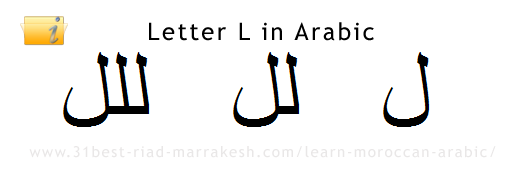 Letter L in Arabic, Learn How to Write Arabic