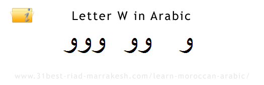 Letter W or U in Arabic, Learn How to Write Arabic