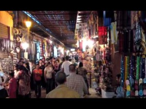 Walking through the souks of Marrakech